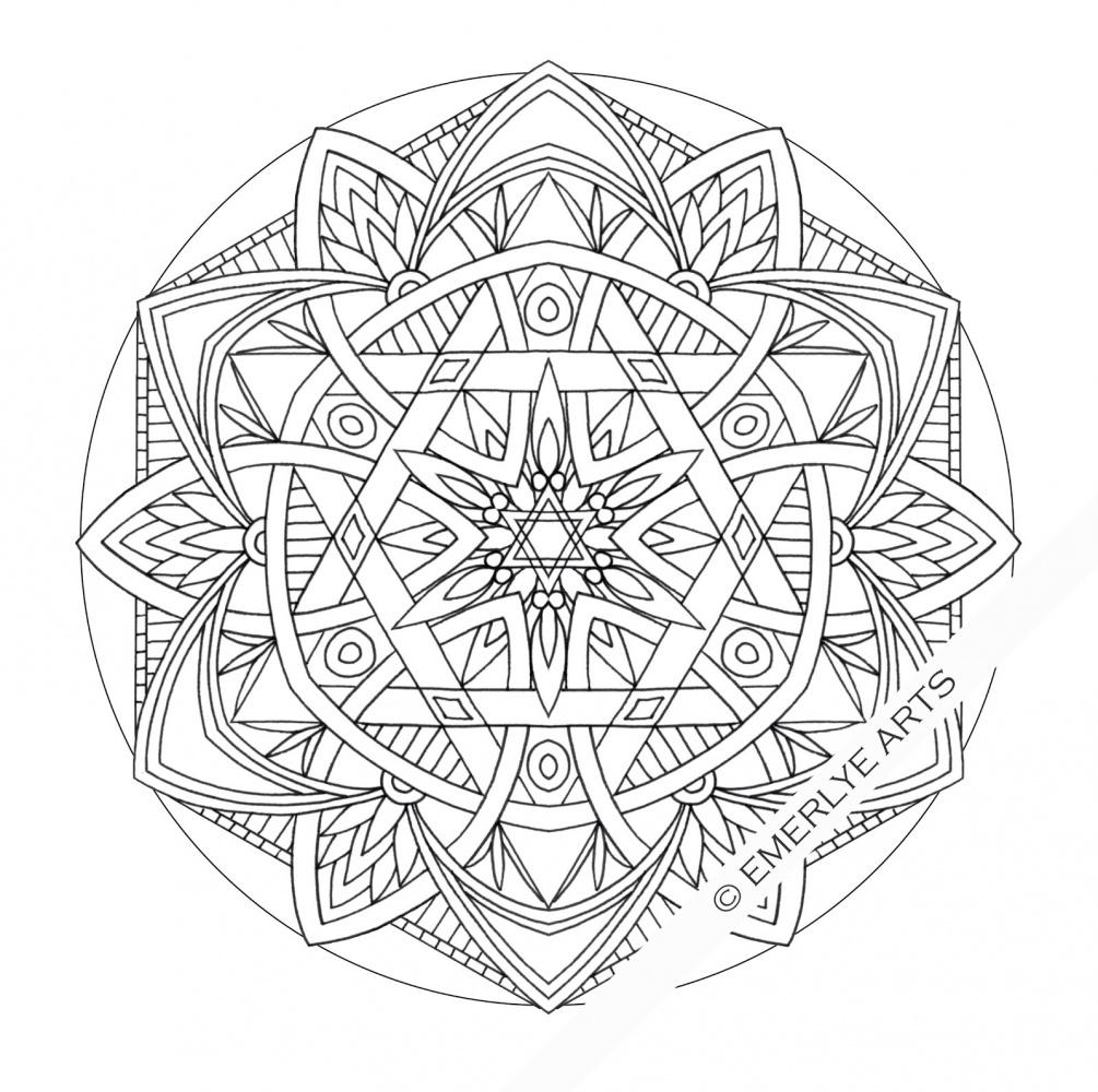 Mandala Coloring Pages Advanced Level Printable at